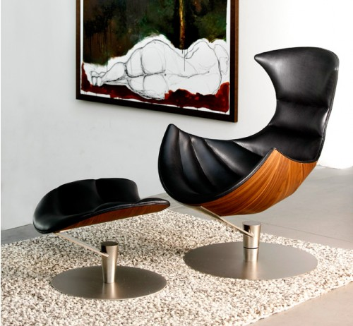 Gamut Lobster Chair & Footrest, $4990 & $2590