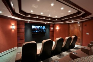 Dedicated Theater with All Hidden Speakers & Electronics