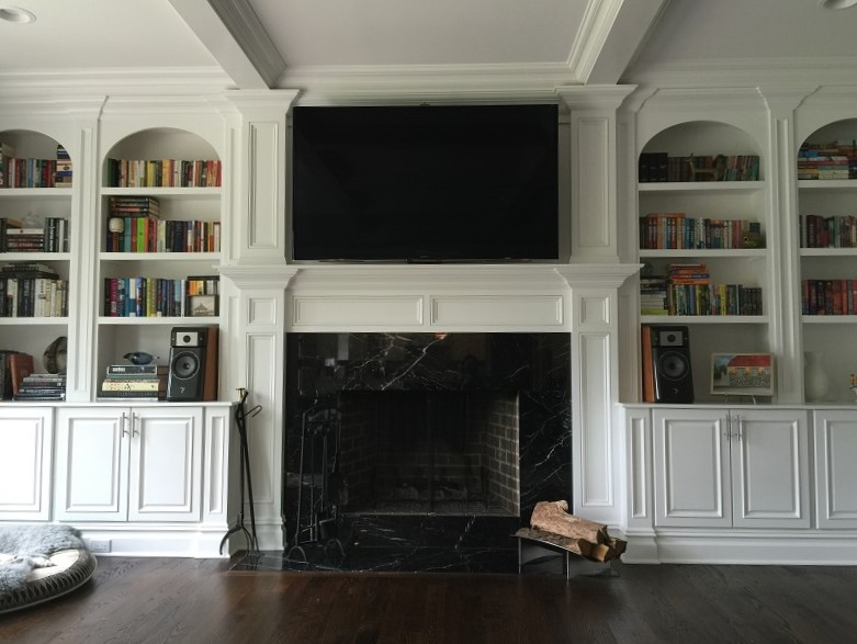 Custom Cabinetry Hides A/V Gear
