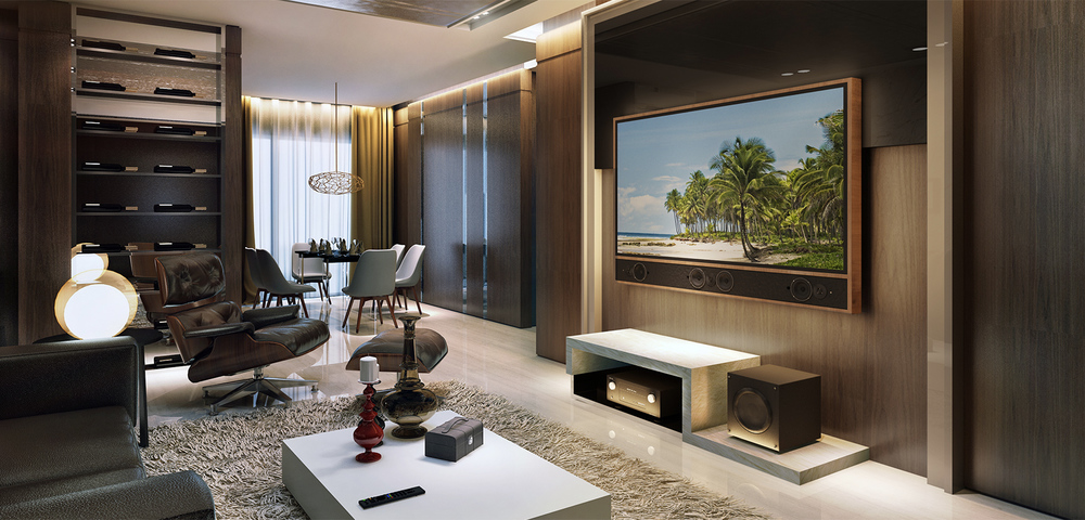 Media Decor TV & Soundbar Frame