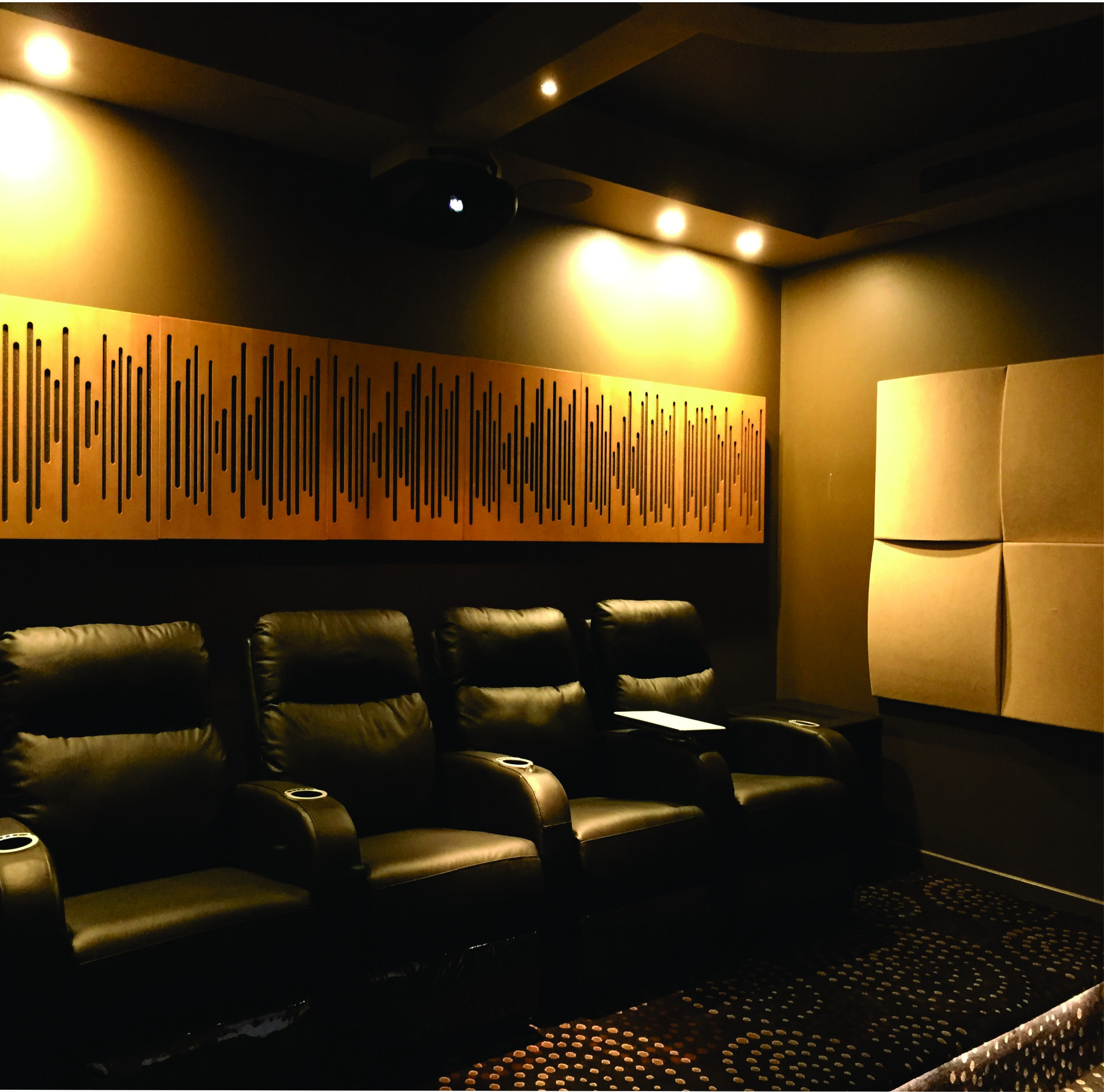 Media Room acoustics panels.